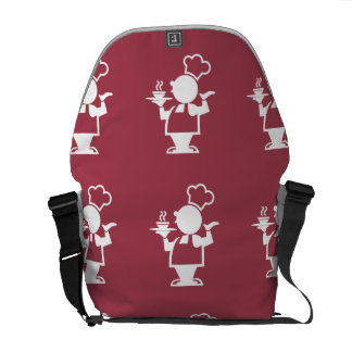 Cook maroon courier bag