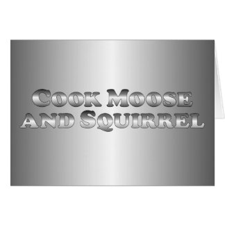 Cook Moose and Squirrel - Basic Card