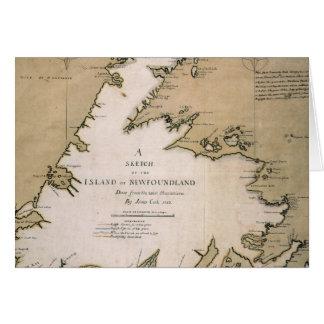 COOK: NEWFOUNDLAND, 1763 CARD