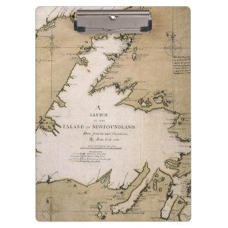 COOK: NEWFOUNDLAND, 1763 CLIPBOARD