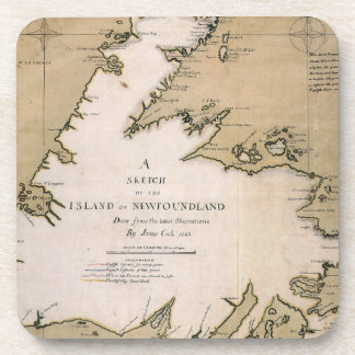 COOK: NEWFOUNDLAND, 1763 DRINK COASTER