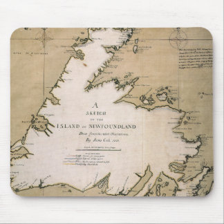 COOK: NEWFOUNDLAND, 1763 MOUSE PAD