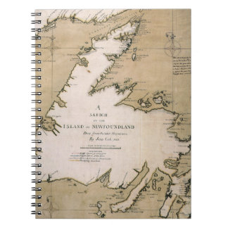 COOK: NEWFOUNDLAND, 1763 NOTEBOOK