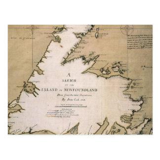 COOK: NEWFOUNDLAND, 1763 POSTCARD