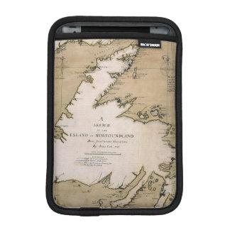 COOK: NEWFOUNDLAND, 1763 SLEEVE FOR iPad MINI