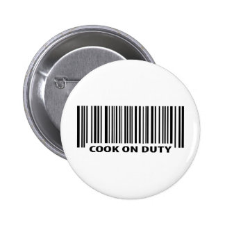 cook on duty icon 2 inch round button