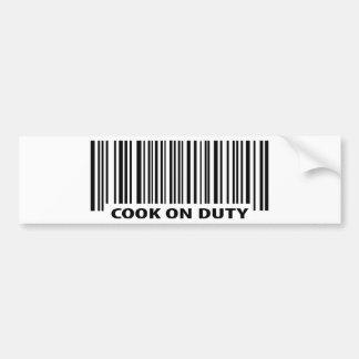 cook on duty icon bumper sticker