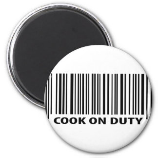 cook on duty icon refrigerator magnets