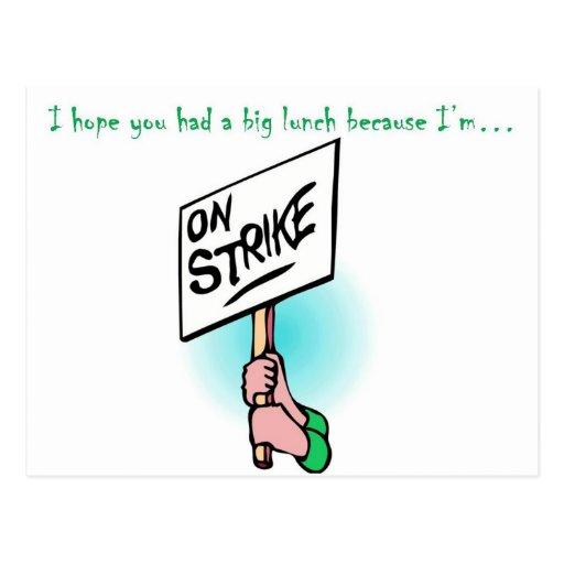 Cook on Strike Post Card