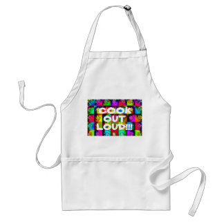 """Cook Out Loud!!!"" Adult Apron"
