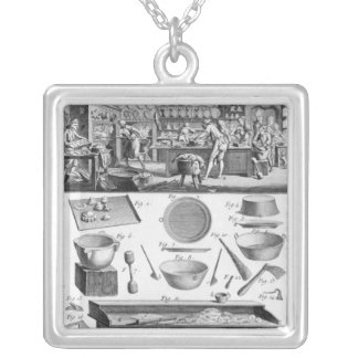 Cook, Pastrycook, Caterer Silver Plated Necklace