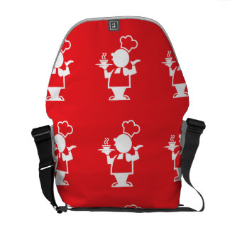 Cook red courier bags