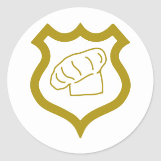 cook-shield.png classic round sticker