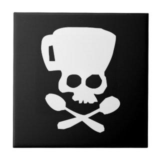 Cook skull ceramic tile
