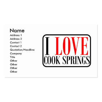 Cook Springs, Alabama City Design Double-Sided Standard Business Cards (Pack Of 100)