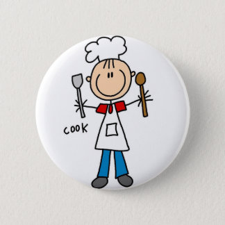 Cook Stick Figure Button