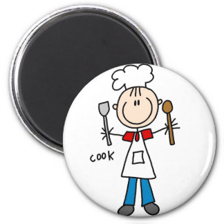 Cook Stick Figure Magnet