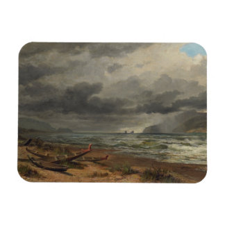 'Cook Strait, New Zealand' - Nicholas Chevalier Magnet