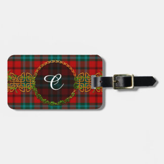 Cook Tartan And Monogram Luggage Tag