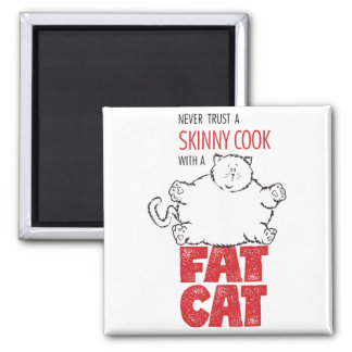 Cook with Fat Cat - Magnet 2