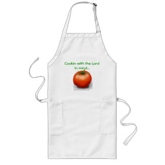 Cook with The Lord in mind Christian Long Apron
