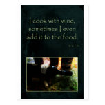 Cook with Wine Post Cards