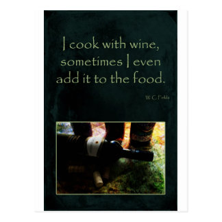 Cook with Wine Postcard