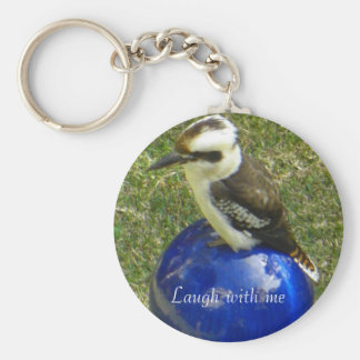 cookaburra, Laugh with me Basic Round Button Keychain