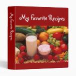 Cookbook 3 Ring Binder