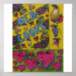 Cookbook Cover Art - Deb Cooks Poster