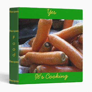 Cookbook Cover 3 Ring Binders