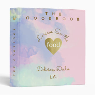 cookbook / delicious dishes, love food, pink binder