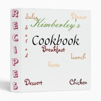 Cookbook with Zing Binder