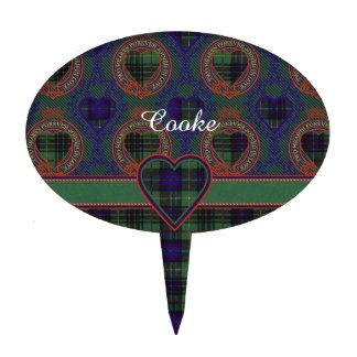 Cooke clan Plaid Scottish kilt tartan Cake Picks
