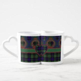 Cooke clan Plaid Scottish kilt tartan Coffee Mug Set