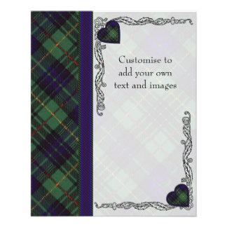 Cooke clan Plaid Scottish kilt tartan Flyer