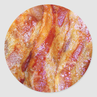 Cooked Bacon Classic Round Sticker
