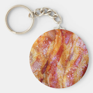 Cooked Bacon Keychain