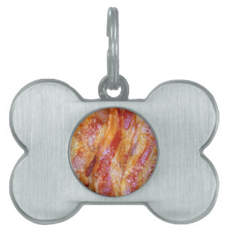 Cooked Bacon Pet ID Tag