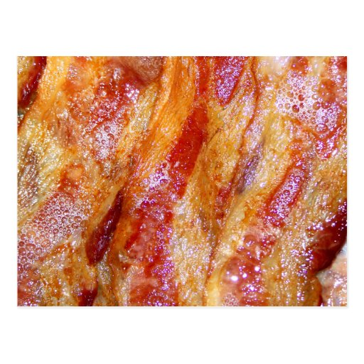 Cooked Bacon Post Card