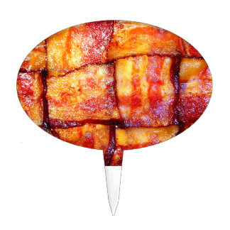 Cooked Bacon Weave Cake Pick