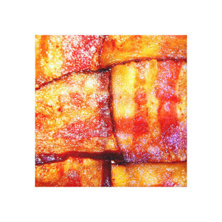 Cooked Bacon Weave Canvas Print