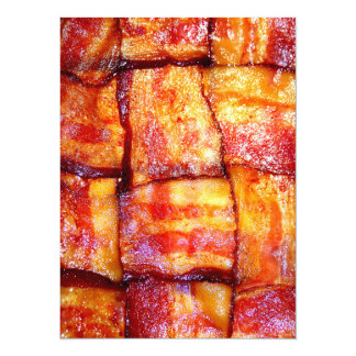 Cooked Bacon Weave Card