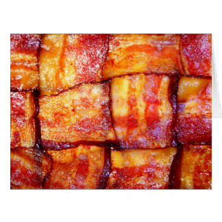 Cooked Bacon Weave Greeting Card