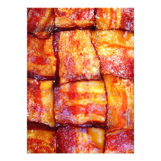 Cooked Bacon Weave Personalized Announcement