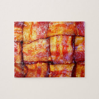 Cooked Bacon Weave Jigsaw Puzzle