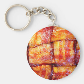 Cooked Bacon Weave Key Chain