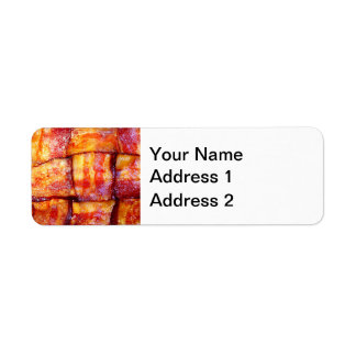 Cooked Bacon Weave Return Address Label