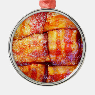 Cooked Bacon Weave Metal Ornament