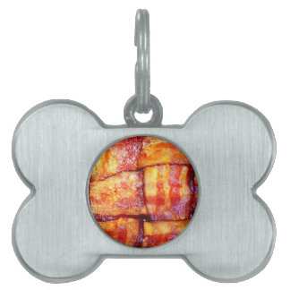 Cooked Bacon Weave Pet ID Tag